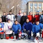 На хоккее